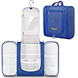 BALEINE Toiletry Bag for Women and Men, Water-Resistance Cosmetic Bags Makeup Organizer for Toiletries with Hanging Hook (Large, Blue)