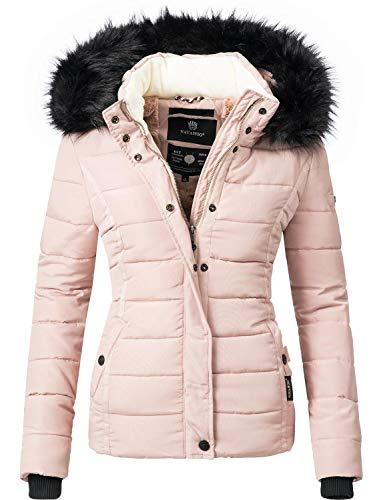 Navahoo Damen Winter Jacke Steppjacke Miamor Rosa Gr. L