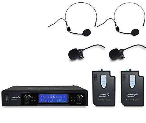 Audibax MISSOURI 2500-1 Microfono inalambrico Doble Lavalier / Madona Frec. B