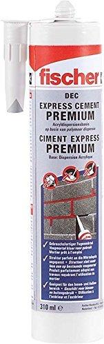 Fischer 519321 Express Cement DEC zementgrau 310 ml, 1 Stück, 310 [ml]
