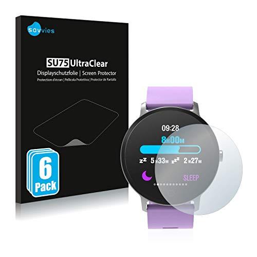 savvies 6-Pezzi Pellicola Protettiva Compatibile con BingoFit Epic Fitness Tracker Protezione Schermo Trasparente