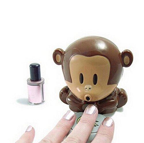 JUNGEN 1x Finger Nail Art Nagellack Blower Trockner Nail Beauty Tool Affen Nägel Trockner