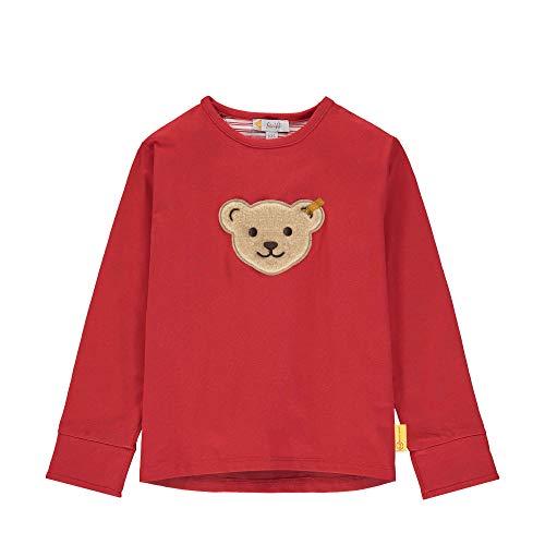 Steiff Mädchen T-Shirt Langarm Langarmshirt, Rot (Tango Red 4008), 80 (Herstellergröße: 080)