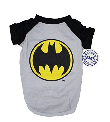 DC Comics Batman Tee For Dogs| Batman Logo T-Shirt Dogs, Large, Black and Yellow
