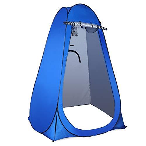 Coolty Pop-up Toilettenzelt Umkleidezelt, Tragbar Tragbar Camping Dusche Zelt, Mobile Umkleidekabine Lagerzelt (Blau)