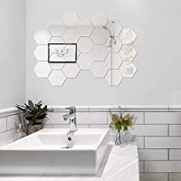 Digmig 24-Piece Removable Acrylic Mirror Decal Set