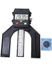 Medidor digital de altura, LCD Calibrador de calibre de altura de profundidad magnética de 0-80 mm, Herramienta medición precisión de apertura de altura, para profundidad de apertura, Regla