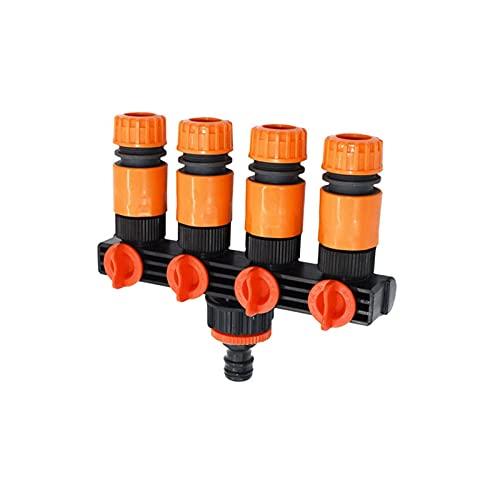 KJBGS Grifo de jardín 1pcs Manguera de jardín con 4 vías Garden Garden Garden Splitter Splitter Garden Water para 1/2 3/4 Conector de Manguera 16mm 20mm Conveniente y Duradero (Color : 1I2 Hose A)