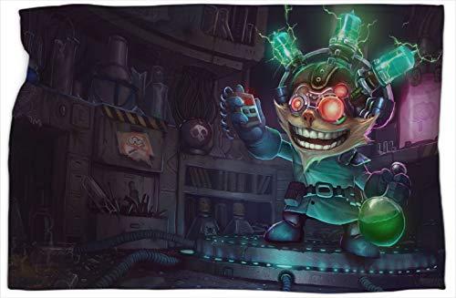 Ziggs Madscientist League Legends - Manta reversible con estampado de leyendas (152,4 x 203,2 cm)