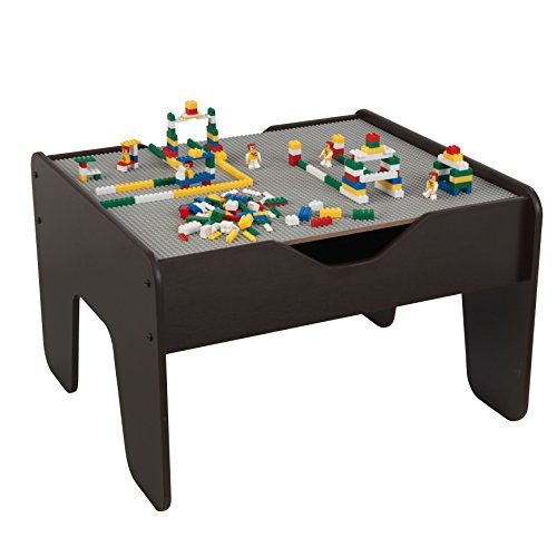 KidKraft 2-in-1 Activity Play Table with Board (Gray/Espresso) - Limited Edition