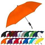 STROMBERGBRAND UMBRELLAS Spectrum Popular Style 15' Automatic Open Umbrella Light Weight Travel Folding Umbrella for Men and Women, (Orange)