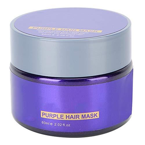 60 ml Masque Cheveux Violet Cheveux Masque Deep Réparateur Masque Cheveux Supprimer Masque Cheveux Revitalisant Profond pour Réparer Cheveux Secs Endommagés Cheveux Traités Blanchis