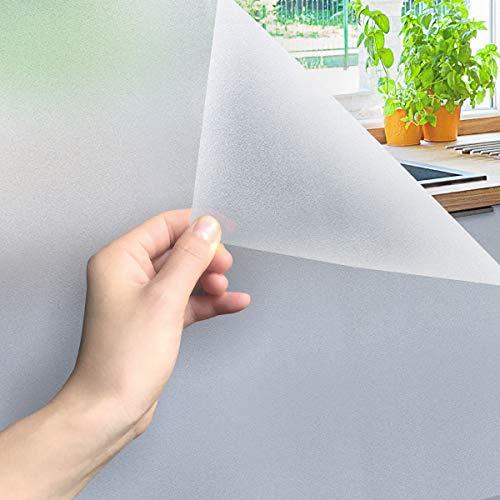 Weychen Pellicola Privacy Pellicola Smerigliata Decorativa, Autoadesive Anti-UV,Controllo di Calore per Ufficio Bagno Camera da Letto Sala di Riunione, 30cm X 400cm
