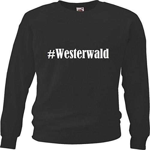 Reifen-Markt Sweatshirt Damen #Westerwald Größe S Farbe Schwarz Druck Weiss