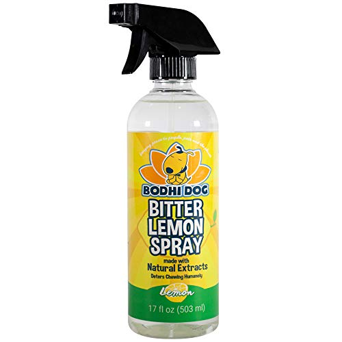 NEW Bitter Lemon Spray | Stop Biting and Chewing for Puppies Older Dogs & Cats | Anti Chew Spray Puppy Kitten Training Treatment | Non Toxic | Professional Quality - Made in USA - 1 Bottle 17oz(503ml)