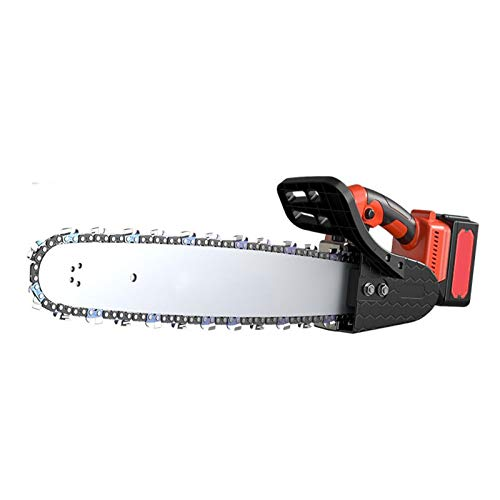 LINGXIU Electric Chain Saw, Lithium Electric Saw, Rechargeable Hand-held Small Household Portable Logging Saw with One Hand for Cutting Trees and Sawing Wood, Multi-Function Saw Power Tool