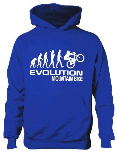 Mountain Bike/Biker ~ Evolution von ~ Kinder/Mädchen/Jungen Kapuzenpulli in 6Farben ~ Alter 5–13 Gr. 7 Jahre, blau