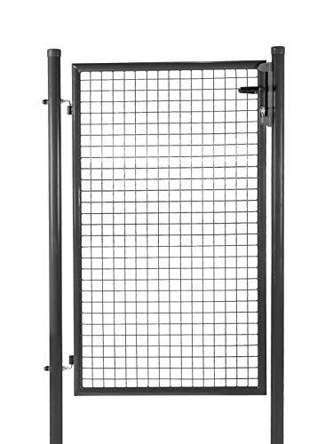 Portillon de Jardin Nice Gate - Hauteur 1m50 - Passage 1m - Maille 50x50 - Gris Anthracite