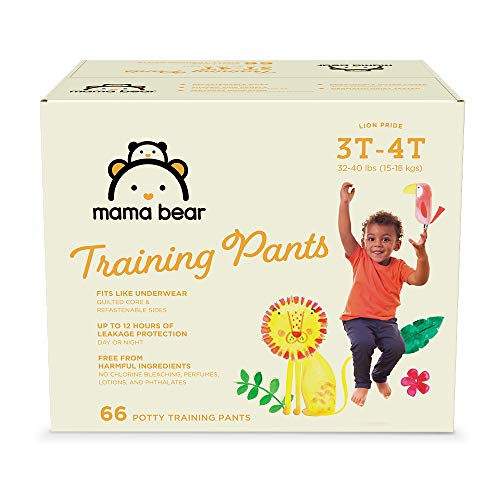 Amazon Brand - Mama Bear Training Pants For Boys 3T-4T, 66 Count