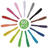 60 Pcs Colliers ID pour Chiots Colliers d'Identification Multicolores pour Chiots Nouveau-Nés Colliers Personnalisés Bandes d'Identification Régalables de Double Face pour Chatons, 15 Couleurs