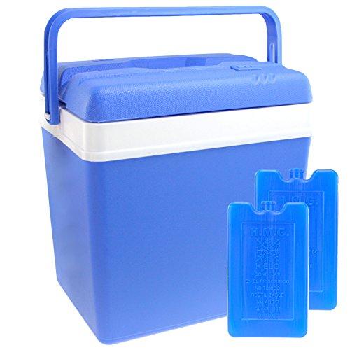 Kühlbox 24 Liter inklusive 2x Kühlakkus Kühltasche Isolierbox Warmhaltebox Thermobox Kühlschrank Cooler