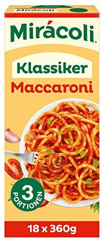 MIRÁCOLI Fertiggerichte Klassiker Maccaroni, 3 Portionen, 18 Packungen (18 x 360g)