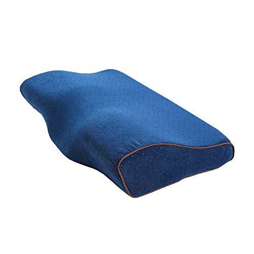 Chunyu Memory Foam Kissen, für Nacken und Schulter Schmerzen, HWS Kopfkissen,Ergonomisches Nackenstützkissen für Seitenschläfer Rückenschläfer und Bauchschläfer,Blau