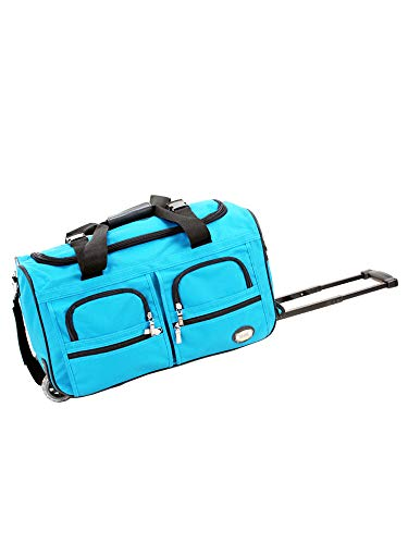 Rockland 22 Inch Rolling Duffle Bag, TURQUOISE