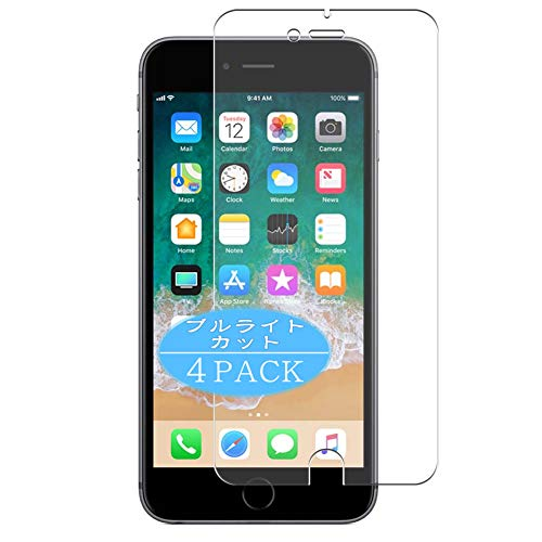 VacFun 4 Piezas Filtro Luz Azul Protector de Pantalla, compatible con Apple iphone 6 plus / 6s plus, Screen Protector Película Protectora(Not Cristal Templado) NEW Version