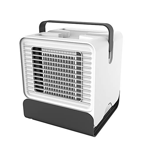 Enfriador evaporativo portátil 3 en 1 Ventilador de Escritorio, Mini Enfriador Portátil USB Aire Acondicionado umidificador purificador, 1 velocidade Ajustable, 1 LED