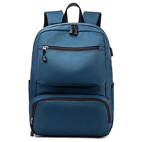 A/R Zaino da Viaggio per Laptop, Borsa da Lavoro Leggera Antifurto per Laptop con Porta di Ricarica USB, Zaini da Uomo Durevoli per Laptop da 15,6 Pollici