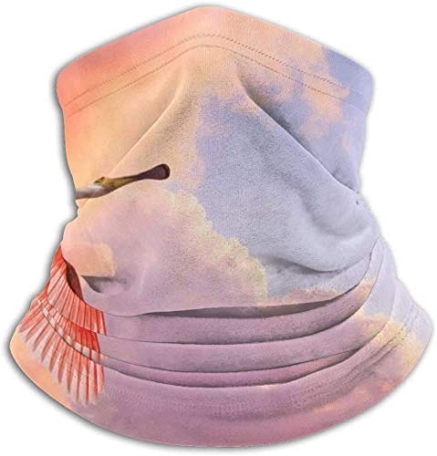 Ouzhou21 Flamingo Live Wallpaper Unisex Mikrofaserhals Warme Kopfbedeckung Gesicht Schal Maske Bandana Sturmhaube Winterwettermaske