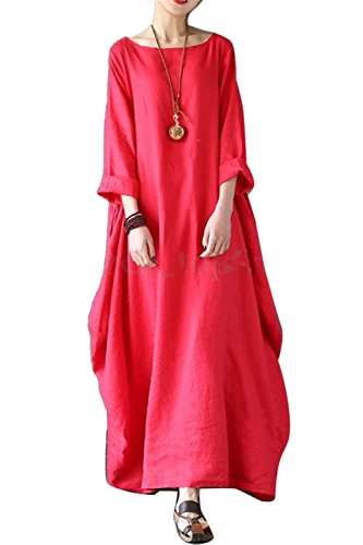 Mujer Vestido Casual Talla Grande Suelto Holgado Maxi Vestidos