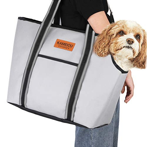 Pet Dog Purse Carrier Bag for Small Dogs Puppy Cats Travel Soft-Sided Tote Carriers with Pockets & Secure Hook Pedal Outcrop Design Portable Small Pet Carriers for Outdoor Subway Doggy Carriers