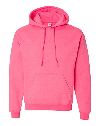 Gildan Men's Heavy Blend Drawcord Hooded Sweatshirt, X-Large, Safety Pink