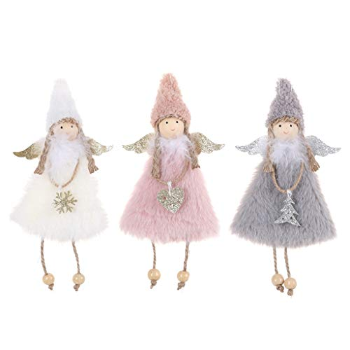 3 Pieces Christmas Decoration Christmas Tree Pendant Doll Christmas Angel Girl Doll Xmas Tree Decoration Pendant