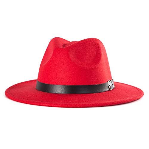Red Fedora Hats for Women - Womens Fedora Hat Men Fedora 70s Fedora for Gift