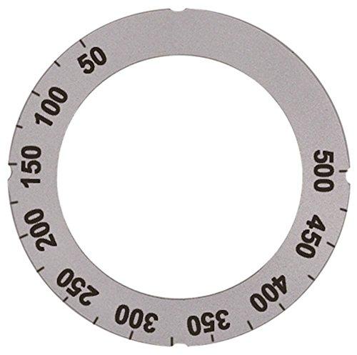 Knijpsymbool voor thermostaat, buiten, 63 mm, draaihoek 270 graden, zilver, binnenzijde 45,5 mm, max. Temperatuur 500 °C symbool thermostaat 50-500 °C