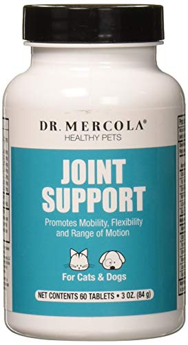 Dr. Mercola, Joint Support, For Cats and Dogs, (60 Tablets), Promotes Mobility, Flexibility, and Range of Motion, non GMO, Soy-Free, Gluten Free