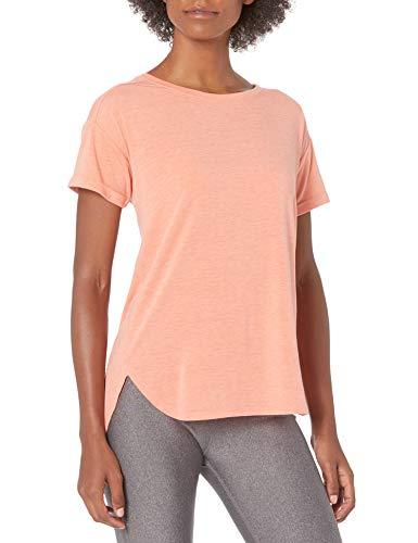 Amazon Essentials Studio Relaxed-Fit Lightweight Crewneck T-Shirt fashion-t-shirts, Bright Peach Heather, US L (EU L - XL)