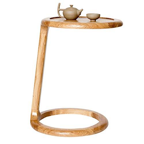 Tables basses Petite Table de Chevet en Bois Massif Petite Petite Table Table de Chevet canapé Coin Table Table de Coin Chambre à Coucher, matériel de chêne Blanc importé