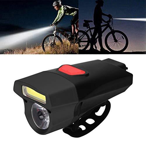 Fahrradlicht,LED Fahrradbeleuchtung,USB Fahrradlampe Vorne,mit 2 Scheinwerfer,5 Modi, IP65 Wasserdicht für Reisen im Freien
