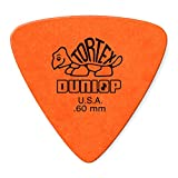 Dunlop 431P.60 Tortex Triangle, Orange, .60mm, 6/Player's Pack