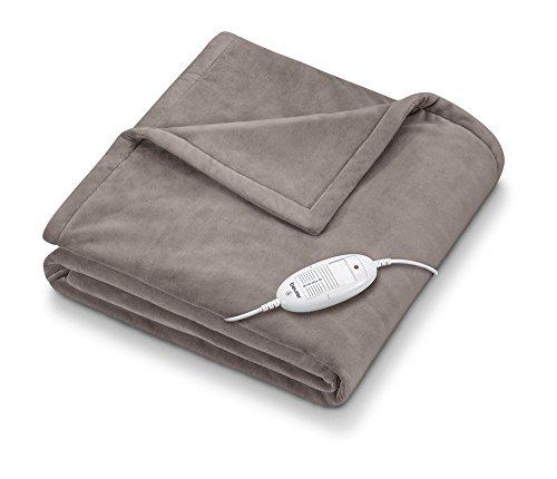 Beurer elektrische deken HD75, behaaglijke elektrische deken met 6 temperatuurstanden, elektronische temperatuurregeling, 180x130cm