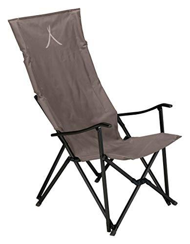 Grand Canyon EL Tovar HIGHBACK - Chaise de Camping, Chaise Pliante avec accoudoir et Dossier Haut - jusqu'à 100 kg - Aluminium - Falcon (Marron)