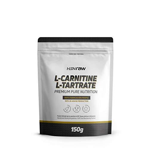 L-Carnitina L-Tartrato en Polvo de HSN | Quemagrasas, Para Adelgazar, Energético, y Recuperación Muscular | Vegano, Sin Gluten, Sin Lactosa, Sin Sabor, 150 gr