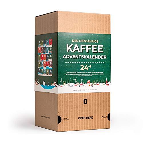 Gourmet Kaffee Adventskalender 2020 für Kaffeeliebhaber - 25 Coffee Brewer mit Gemahlene Kaffeebohnen Spezialitäten aus Aller Welt | Besondere Weihnachtskalender & Probierset für Mann & Frau