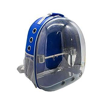 Sobotoo Sac de transport pour perroquet Transparent Sac à dos respirant 360° avec tasse pour voyage en plein air