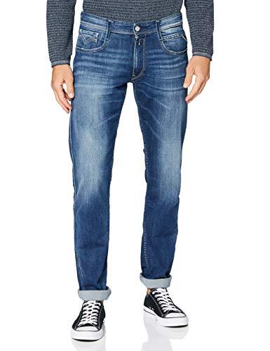 REPLAY Anbass Jeans, Blu Medio 722, 32W / 32L Uomo