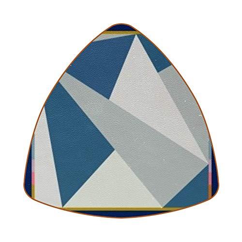 Posavasos triangulares para bebidas, diseño de avión de papel, con marco de cuero, para proteger muebles, resistente al calor, decoración de bar de cocina, juego de 6